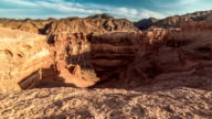 FullHD TimeLapse. Shadow play in Charyn grand canyon at sunset video
