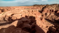 FullHD TimeLapse. Shadows floating on the tops in majestic Charyn grand canyon video