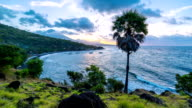 FullHD Timelapse. Sunset proceeds to the night on the Jemeluk Beach. 15 July 2015, Bali, Indonesia video