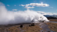 Fumarole at Hverir Thermal Area in Iceland. video