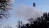 fuming industrial chimney video