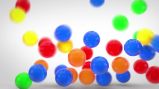 Fun Bouncy Balls Animation - Colourful (Full HD) video