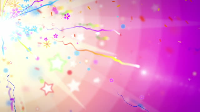 Fun Celebration Background - Side Glow Party Tropical (Full HD) video