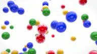 Fun Flying Balls Animation - Colourful (Full HD) video