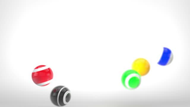 Fun Glossy Balls Animation - Multi-Coloured Version 1 video