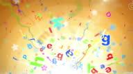 Fun Kids Background Loop - Alphabet Letters Orange (Full HD) video