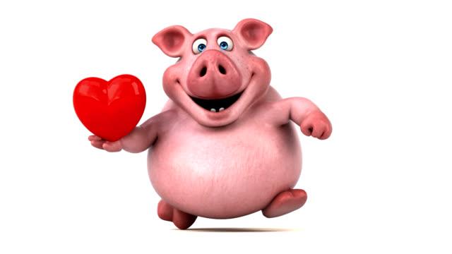 Fun pig running - 3D Animation video