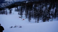 Fun sledding down ski slope video