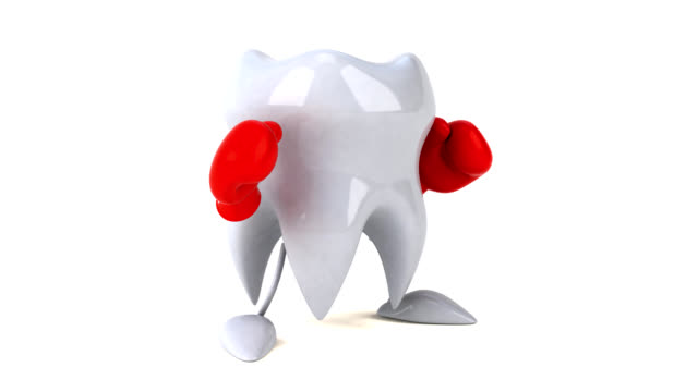 Fun tooth boxing - 3D Animation video