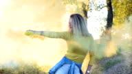 Fun with colored smoke video