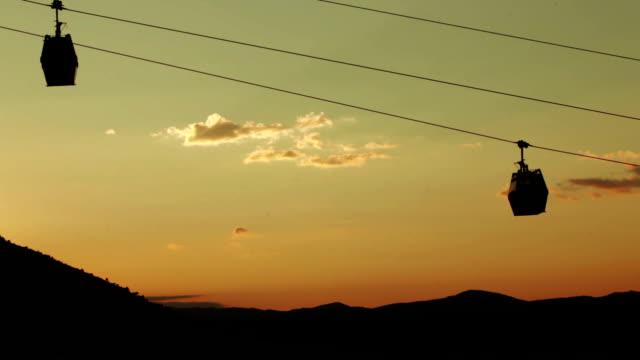 Funicular at sunset video