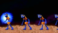 Funny aliens dancing on a planet with blue star video