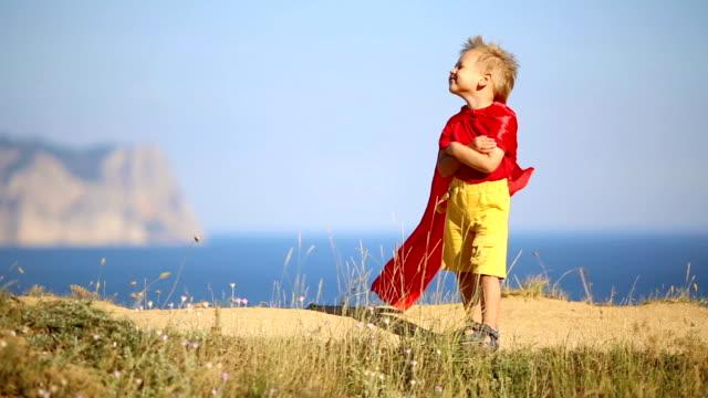 funny boy in superhero costume video