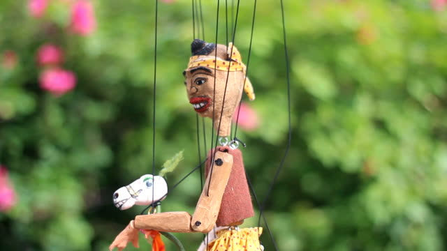 Funny boy in Traditional Thai String Puppet video