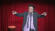 HD: Funny Comedian Dancing On Stage video