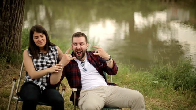 funny couple laughing video