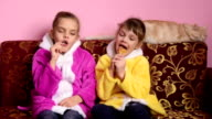 Funny girl sucking lollipops video