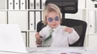 HD: Funny Little Yuppie Boy In Office video