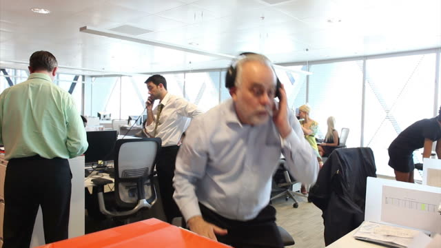 Funny office team disco dancing video
