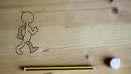 funny puppet comes to life and walk on the desk video