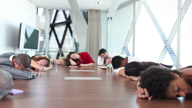 Funny sleeping office people video
