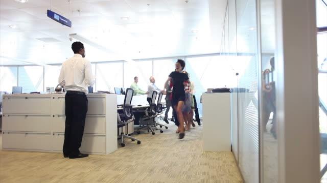 Funny team dance celebration video