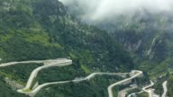Furka pass and the village of Gletsch video