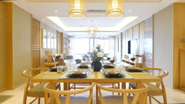 furniture and design of modern dining room video