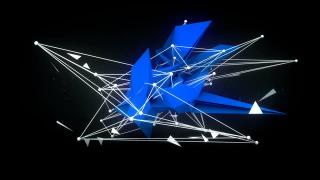 Future shape 3D Render. Abstract loopable animation video