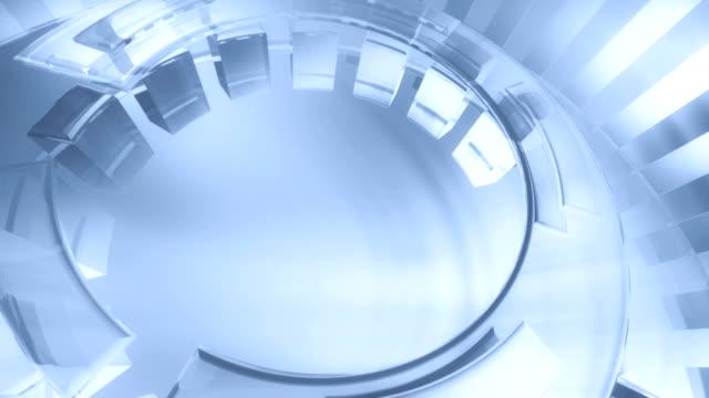 Futuristic 3D circles (light blue) - Background Loop video