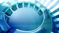 Futuristic 3D circles - Background Loop video