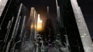 futuristic 3d city video