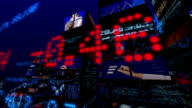Futuristic 3D Stock Market City video