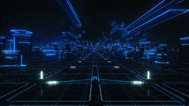 Futuristic abstract background, blue. Loopable. Technology. video