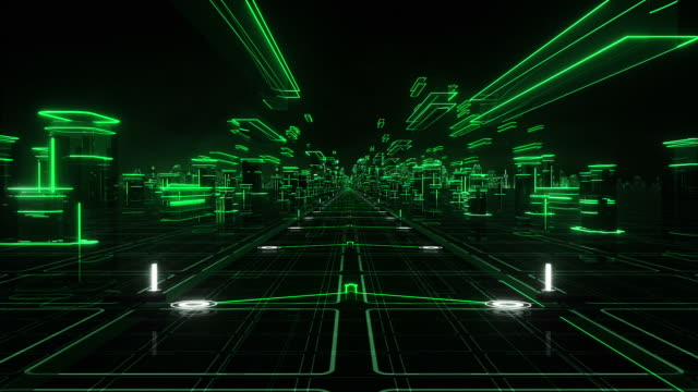 Futuristic abstract background, green. Loopable. Technology. video