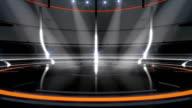 Futuristic black/orange neon background video