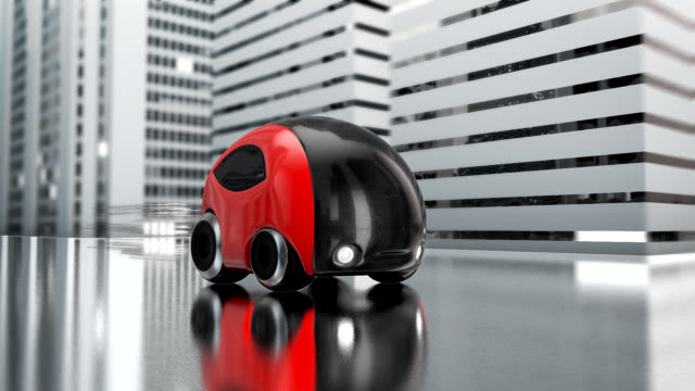Futuristic car and town - 3D Animation video