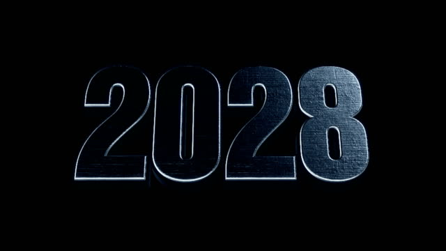 Futuristic Cinematic 3d Animated Text - 2028 video