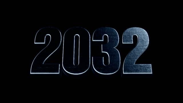 Futuristic Cinematic 3d Animated Text - 2032 video