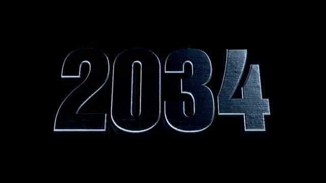 Futuristic Cinematic 3d Animated Text - 2034 video