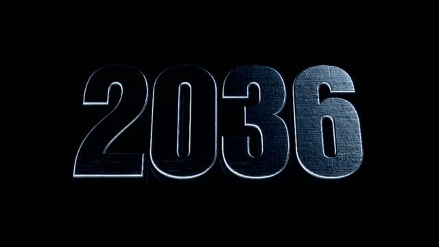 Futuristic Cinematic 3d Animated Text - 2036 video