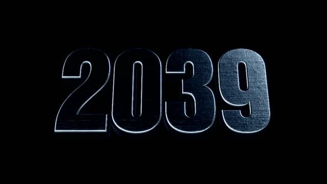 Futuristic Cinematic 3d Animated Text - 2039 video