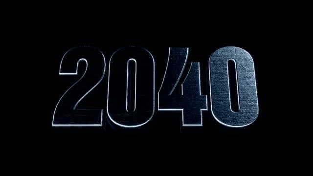 Futuristic Cinematic 3d Animated Text - 2040 video