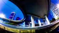 Futuristic city panning timelapse VETTA video