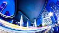 Futuristic city panning timelapse video
