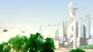 Futuristic City. video
