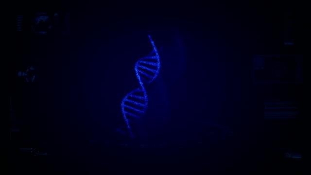 Futuristic DNA screen animation video