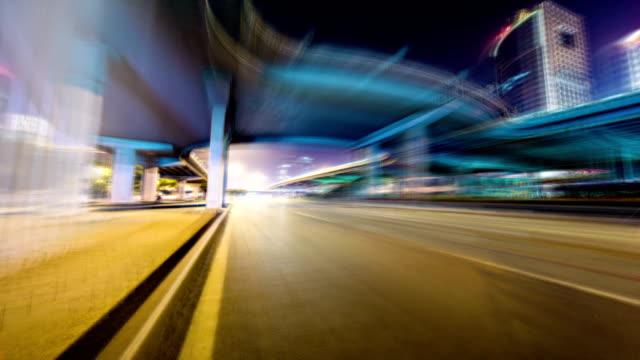 Futuristic drive timelapse hyperlapse VETTA video