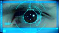 Futuristic Eye Scan video