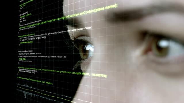 Futuristic Female Wears Heads Up Display video